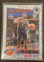 2019 -20 Zion Williamson NBA Hoops Silver Laser Tribute Rookie Card - Pelicans