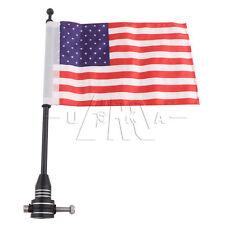 Rear Tail Luggage Rack Bracket Mount Metal Pole USA Flag For Harley Custom