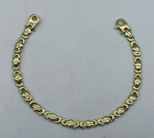 "9ct Gold Hallmarked Ladies 7 1/2"" Fancy Link Bracelet.  Goldmine Jewellers."