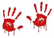 Bloody Zombie Hand Print Set Vinyl Decal Outdoor Car Sticker Walking Dead