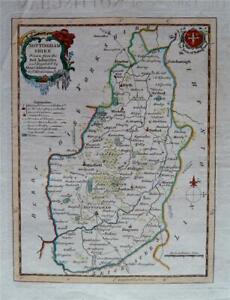 NOTTINGHAMSHIRE Fine Original Hand-Coloured Antique Map by Thomas Kitchin c1780