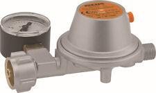 GOK Gasregler  Druckminderer mit Manometer und 40 cm Schlauch  50 mbar  1,5 Kg/h