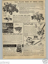 "1966 PAPER AD Rugg 26"" 6 HP Briggs & Stratton Engine 25"" 4 HP Riding Lawn Mower"