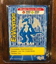 Digimon Exveemon Roll Card 2001