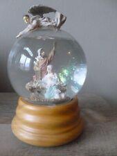 "San Francisco Music Box Co Musical Snow Globe Nativity ""Hark the Angels Sing""F/S"