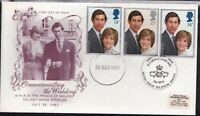 BS11) GB 1981 FDC, Commemoration of Royal Wedding, Charles & Diana