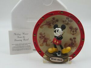 Disney Bradford Exchange Mickey Mouse 3-D From the Drawing Board Collector Plate