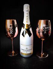 Moet Chandon Ice Imperial Champagner 0,75l 12% Vol + 2 Kupferfarbene Glas Gläser