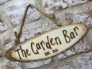 Bar Garden Man Shed Games Room Personalised Wooden Wall Plaque Hanging Sign