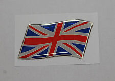 57mm WAVING UNION JACK FLAG Sticker/Decal - RED, WHITE & BLUE WITH A DOMED GEL