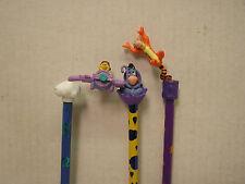 Vintage 1990s Winnie the Pooh Disney PVC Pencil Topper Set of 3 (PVC-003-FW)