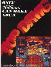 TOP DAWG By WILLIAMS 1988 ORIGINAL NOS SHUFFLE ALLEY ARCADE GAME SALES FLYER