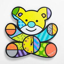 ROMERO BRITTO BABY BEAR WALL CLOCK ** NEW ** GIFT BOX
