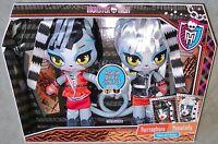 Monster High WERECAT SISTER Plush 2 Pack Doll Set EXCLUSIVE Purrsephone Meowlody