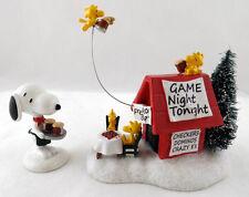 Dept 56 - Snoopy's Game Night - Peanuts Figurine Set of 2 - NIB