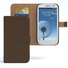 Tasche für Samsung Galaxy S3 / Neo Case Wallet Schutz Hülle Cover Braun
