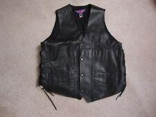 Harley Davidson Leather Vest - HD Motorcycle Vest Size XL