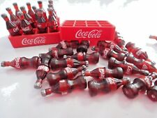 24 COKE COCA COLA THAI DOLLHOUSE SMALL MINIATURE SODA FOOD BOTTLES 2 TRAY
