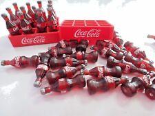 24 COKE COCA COLA THAI DOLLHOUSE SMALL MINIATURE SODA FOOD BOTTLES 2 TRAY