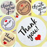 50 100 Round Sticker THANK YOU Hand Made With LOVE Craft Gift Wedding Birthday