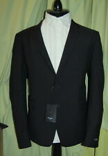 NWT Paul Smith London The Kensington mens black wool mohair suit 54 44 R ITALY