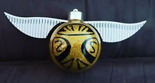 harry potter golden snitch inspired christmas glitter bauble 8cm + 3d wings