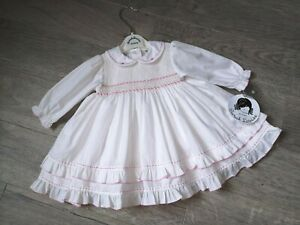 SARAH LOUISE GIRLS DRESS AGE 6 MONTHS SMOCKED ROMANY OCCASION PARTY NEW
