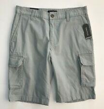 NAUTICA Men's Classic Fit Stretch Cargo Shorts, True Quarry, Size 30W, NWT