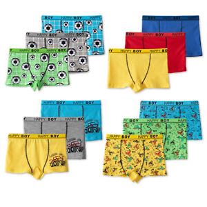 6-24 Pack Jungen Boxershorts Unterhosen Baumwolle Retroshorts Slips Set Kinder
