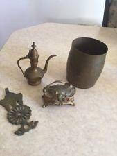 Antique Vintage Brass Art Nouveau Jewelry Box  Coon  + More Collectibles