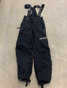 Spyder Mens Ski Snow Bibs Overalls Suspender Pants Size 40 Black Insulated