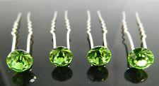 10/20pcs Crystal Rhinestone Diamante Wedding Bridal Jewelry Prom Hair Pins Clip