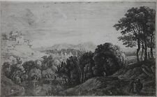 HERMAN VAN SWANEVELT-Dutch Old Master-Hand Signed LIM.ED. Etching-Landscape