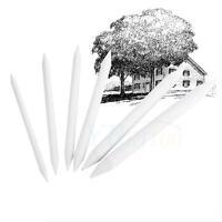 6x White Painting Paper Pen Double Head DIY Art Sketching Tools Stumps Tortillon