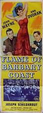 FLAME OF THE BARBARY COAST Movie POSTER 14x36 Insert John Wayne Ann Dvorak