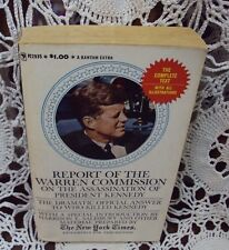 REPORT OF THE WARREN COMMISSION ON ASSASSINATION OF PRESIDENT KENNEDY ~ 1964 PB