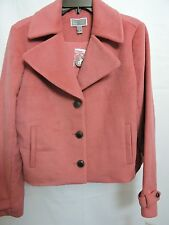 Chelsea28 Poly Blend Short Essential 3 Button Redwood Jacket Size Small