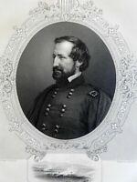 William S. Rosecrans Union General Chickamauga 1863 Virtue Civil War portrait