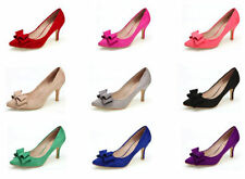 Suede Pumps, Classic Slim Solid Heels for Women