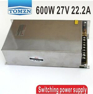 600W 27V 22.2A 220V input Single Output Switching power supply