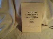Chicago Symphany Orchestra Program, October 26, 1963