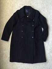$328 Madewell Military Swing Coat Size 14 Navy B1976 Women's