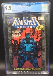 COPPER AGE PUNISHER ARMORY ISSUE 2 MARVEL COMIC BOOK CGC 9.2 WHITE PAGES 1991