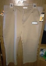 Lee Lower On The Waist Brown Mid Length Capri's Khaki. Stretch. Size 14 Medium