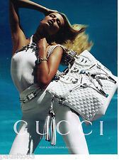 PUBLICITE ADVERTISING 065  2010  GUCCI   collection maroquinerie sacs     020615