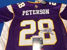 VIKINGS ADRIAN PETERSON BRAND NEW REEBOK SIGNED JERSEY WITH TAGS INSCRIBED! JSA