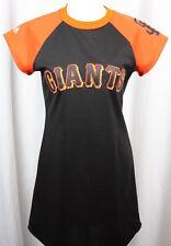 Majestic San Francisco Giants Womens Short Sleeve Stretch Knit Dress Size Small