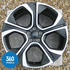 "1 x NEW GENUINE AUDI A1 18"" 5 SPOKE BLACK POLYGON ALLOY WHEEL 8X0071498 AL BQ"