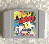 N64 Bomberman Hero Nintendo 64 Authentic Cartridge Cleaned TESTED Free Ship! VG