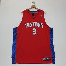 Vintage Ben Wallace Detroit Pistons Reebok Authentic NBA Jersey Size 56 XXXL Red